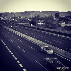 Autovía A-30 a su paso por la ciudad de Murcia.