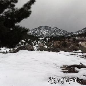 Nevada en el Noroeste de la Región de Murcia. Primavera de 2011.
