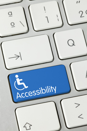 Accessibility keyboard key. Finger
